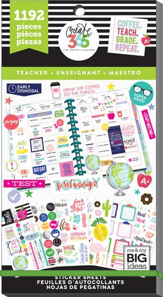 Teacher Value Pack 1192 pieces- Me and My Big Ideas Create 365 Happy Planner Sti