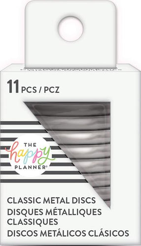 Me and My Big Ideas Happy Planner Discs - Classic - Metallic silver rindr-02