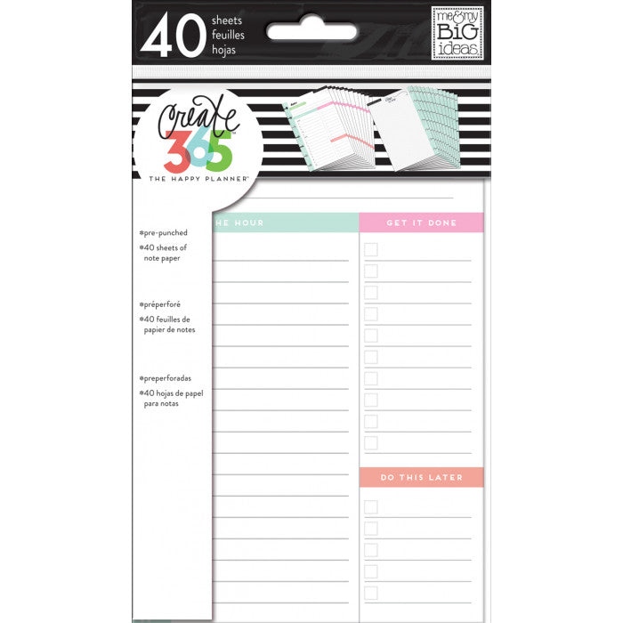 Mini Happy Planner Inserts Daily - FILM02 Fill Paper