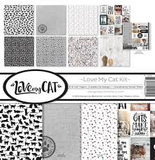 12 x 12 inch Paper Pack Reminisce Designs - Love My Cat Kit - lca-200