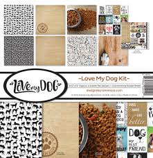 12 x 12 inch Paper Pack Reminisce Designs - Love My Dog Kit - lmd100