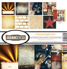 12 x 12 inch Paper Pack Reminisce Designs - Movie Night Kit - mn200