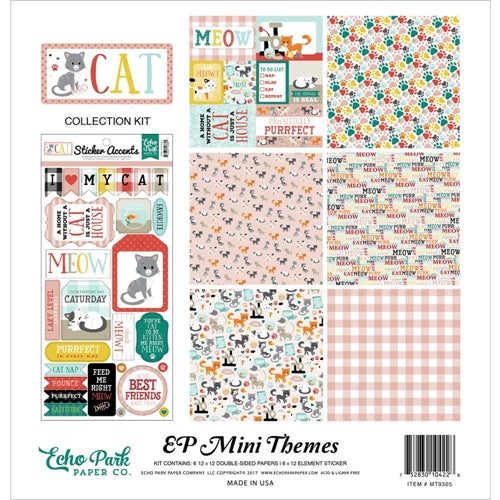 Echo Park EP Mini Themes Kit - contains 6 double sided papers and 1 sticker shee