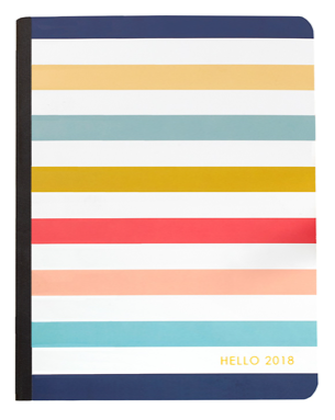 Webster's Pages Composition Planner Insert - Hello 2018 Stripe - np202