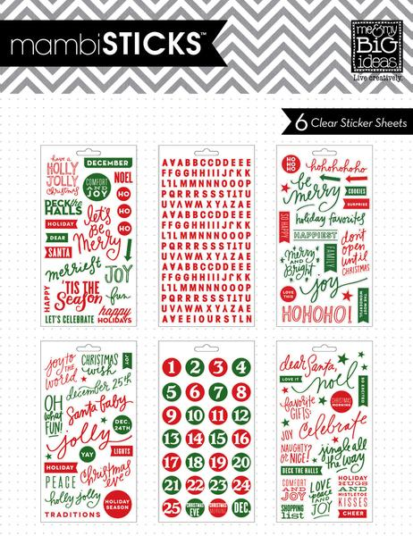 Me and My Big Ideas Planner Stickers Holly Jolly Christmas - PPS-19