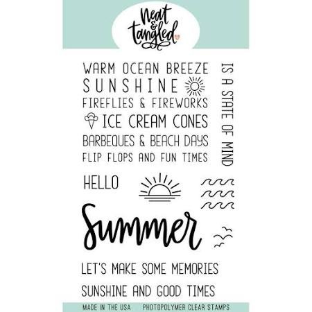 Neat and Tangled Stamp Set - Hello Summer - NAT382