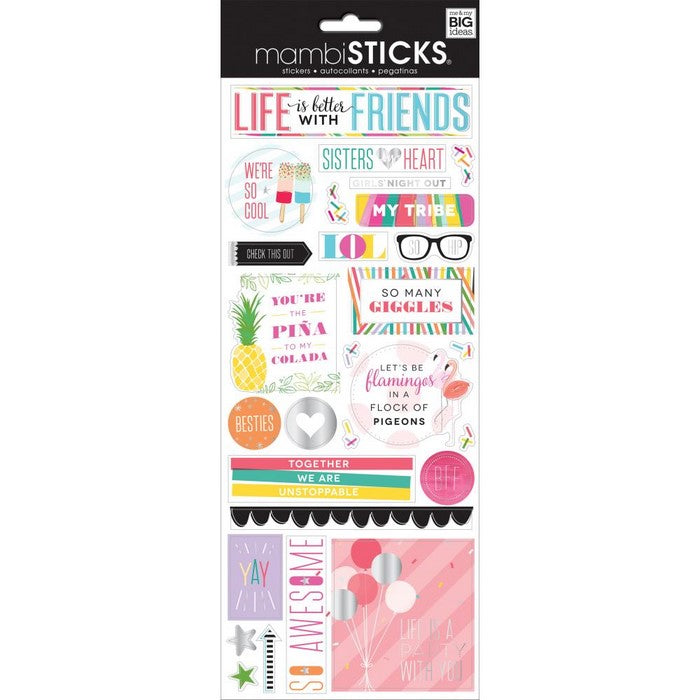 Mambi foil Stickers Life is Better with Friends - spx-332