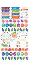 Paper House Life Organised Stickers 285pcs - Live Bold - STPL-6e