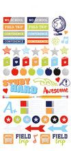 Paper House Life Organised Stickers 264pcs - School - STPL-0008e