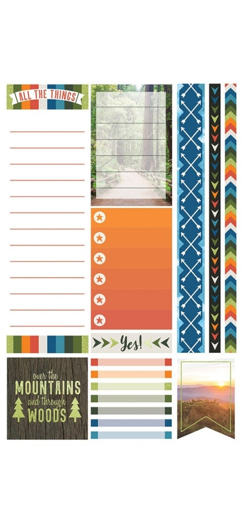 Paper House Life Organised Stickers 90pcs -Outdoors - STPL-0012