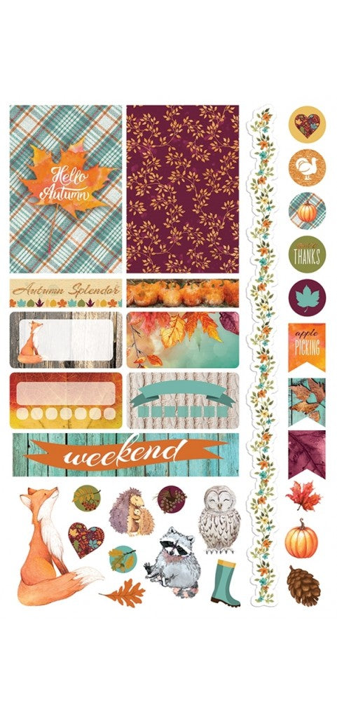 Paper House Life Organised Stickers 93pcs -Autumn woods - STPL16e
