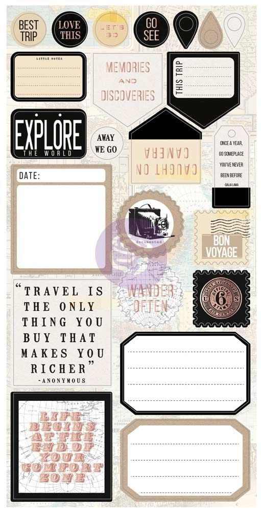 rima - My Prima Planner Collection - Traveler's Journal - Vintage Ephemera and S