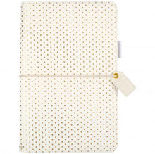 Websters Colour Crush Standard Size Travelers Notebook - Gold Dot - tj001