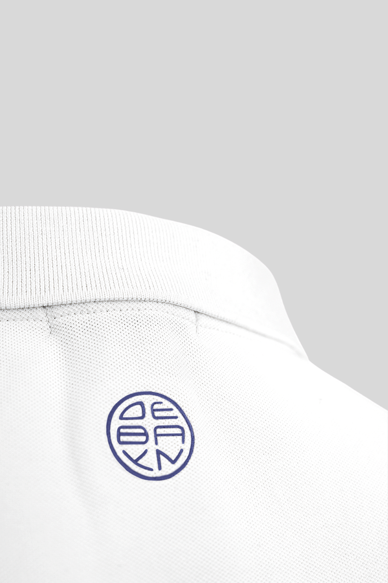 Polo White Menton Debayn Embroidered Logo Back