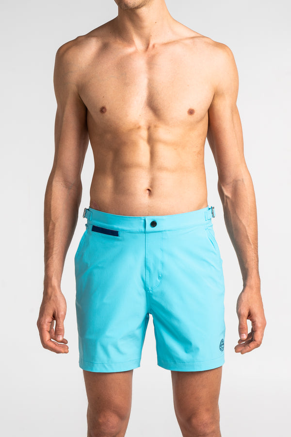 Light Blue Swim Shorts Debayn Men's Swimwear