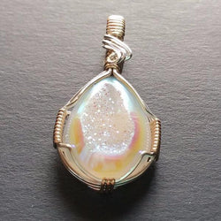 Druzy Quartz Wire Wrapped