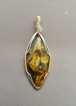 Pietersite Wire Wrapped pendant SOLD 7/17/17