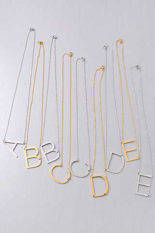 Gold Initial Necklace - llacie