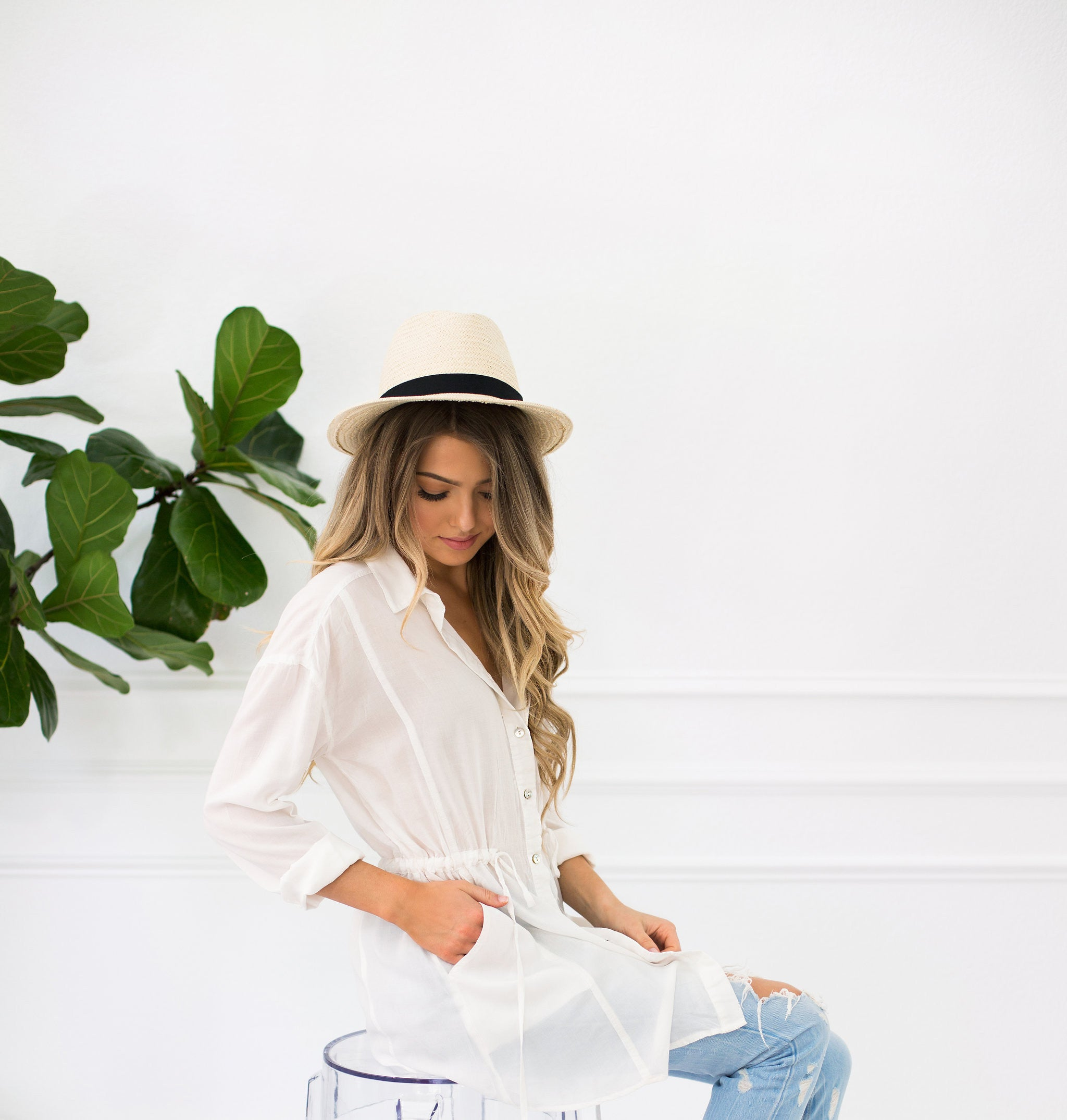 Long Sleeve White Button Down Shirt