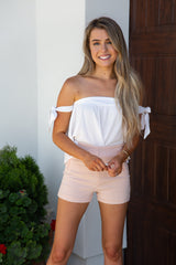 Blush Diamond Printed Shorts