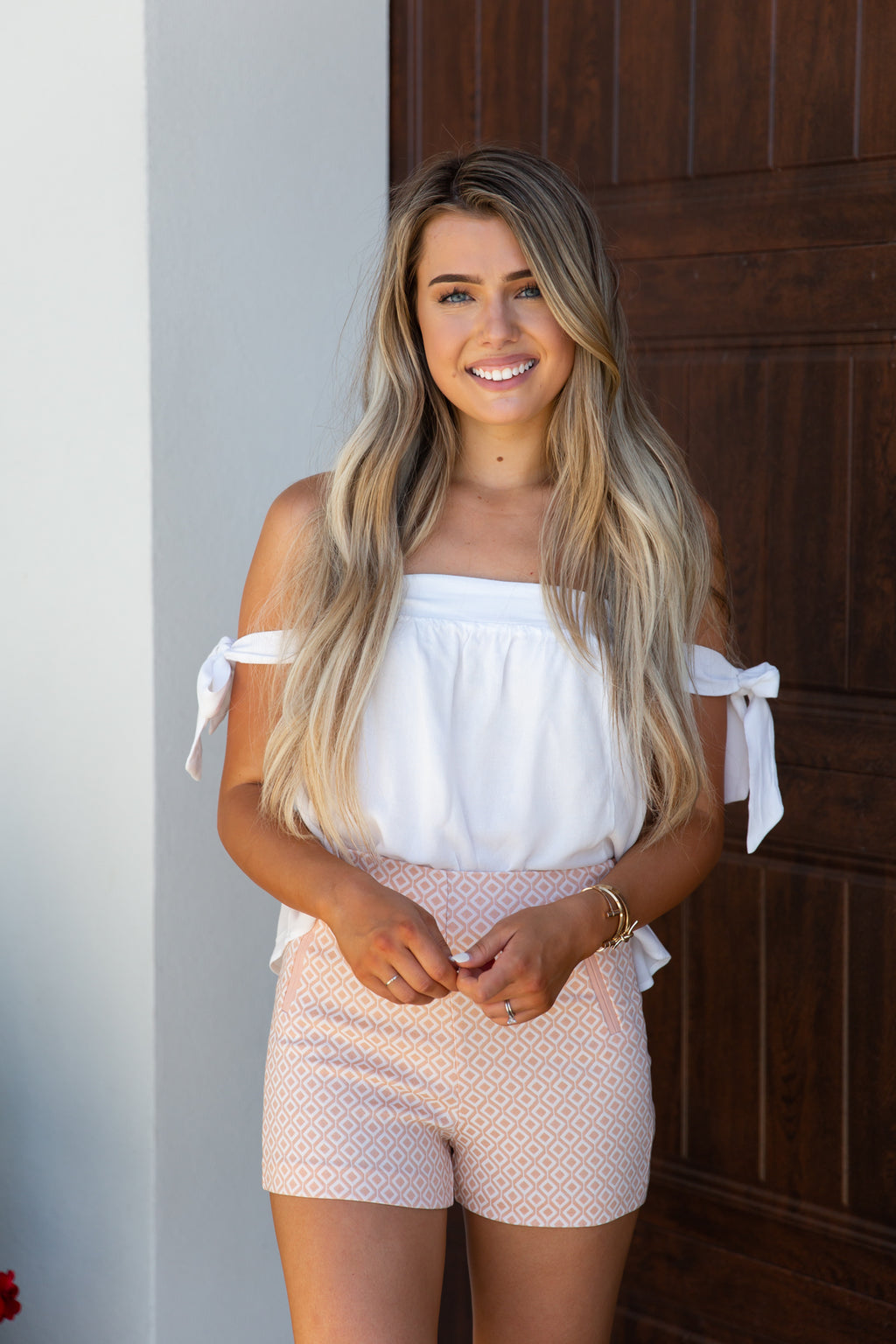 Blush Diamond Printed Shorts- FINAL SALE