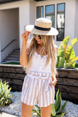 Linen Striped Shorts NEW - llacie