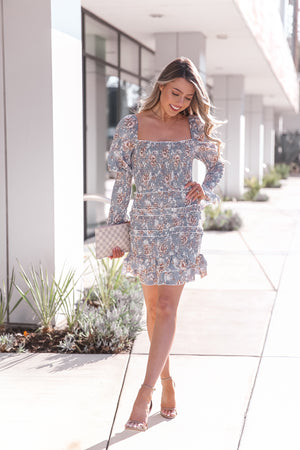 Fashionably Floral Smocked Dress