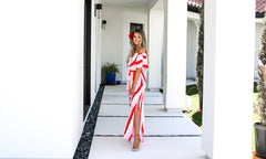 Greece Stripe Maxi Dress