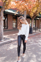 Night Out Black Faux Leather Leggings