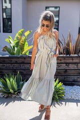 Watch The Sunset Sage Maxi Dress