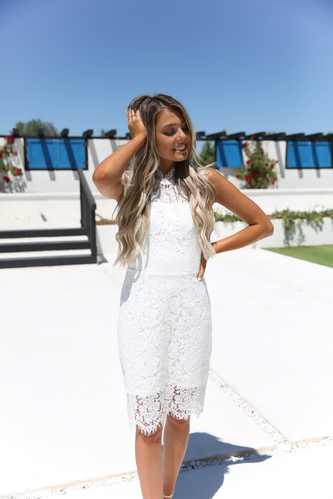 Pearl Lace Dress - llacie