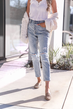 In The City Distressed Boyfriend Jeans