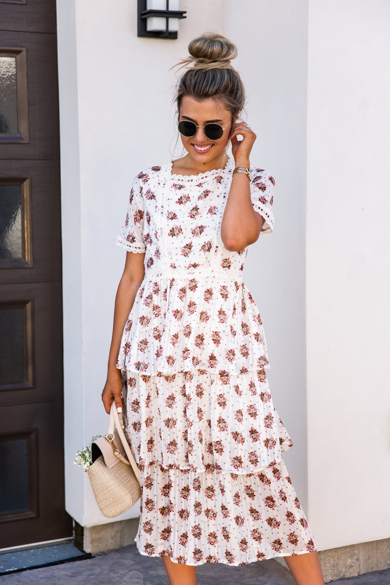 Leena Floral Tiered Dress