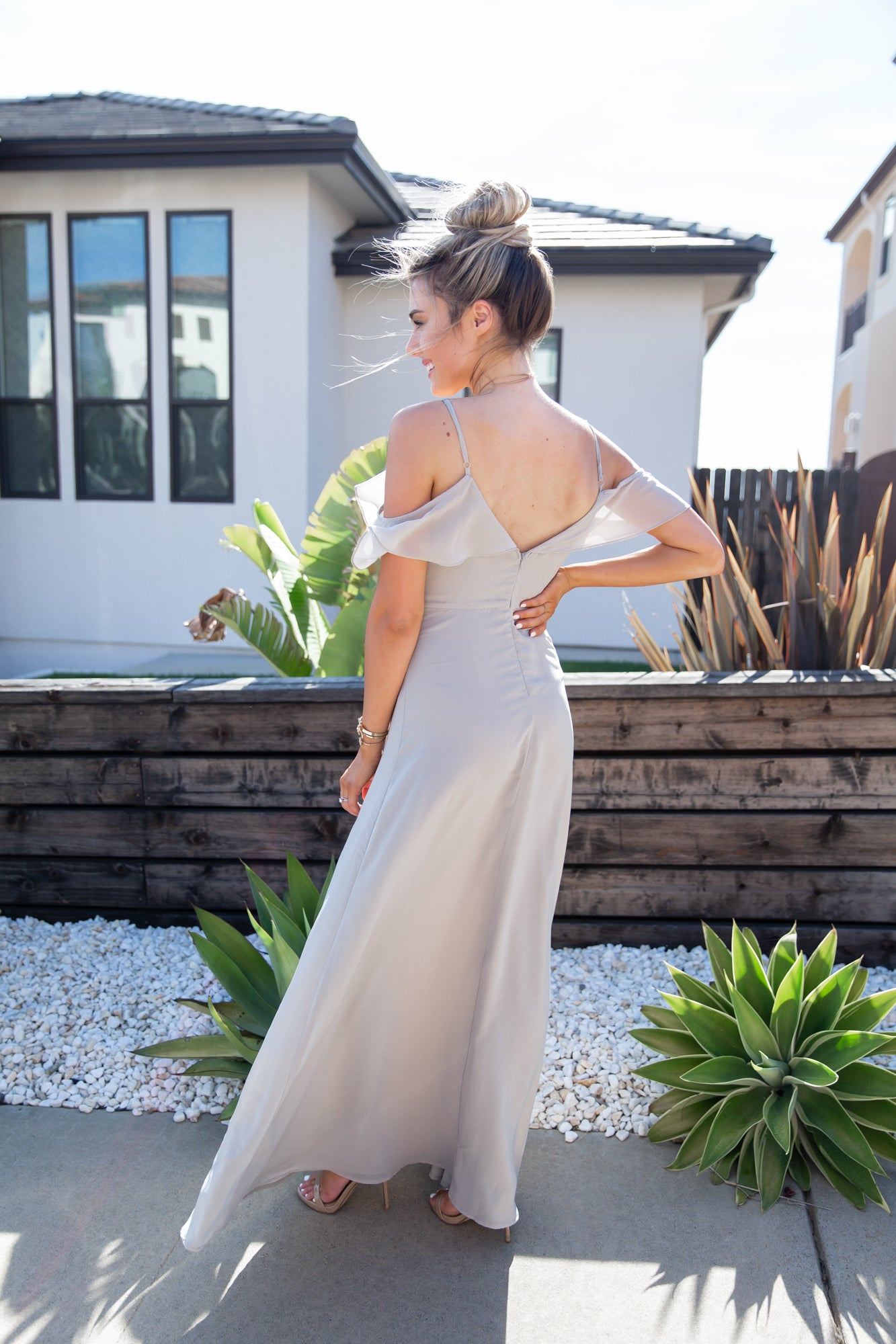 All About Love Steel Grey Maxi Dress