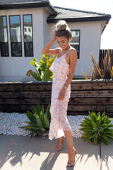 Pink Floral Dream Maxi Dress- FINAL SALE