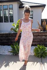 Pink Floral Dream Maxi Dress