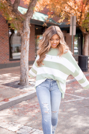 Endless Love Striped Knit Sweater