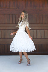White Princess Lace Dress