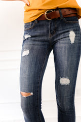 LAURA RIPPED ANKLE JEANS