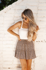 Dancing In The Sun Skirt In Leopard Print