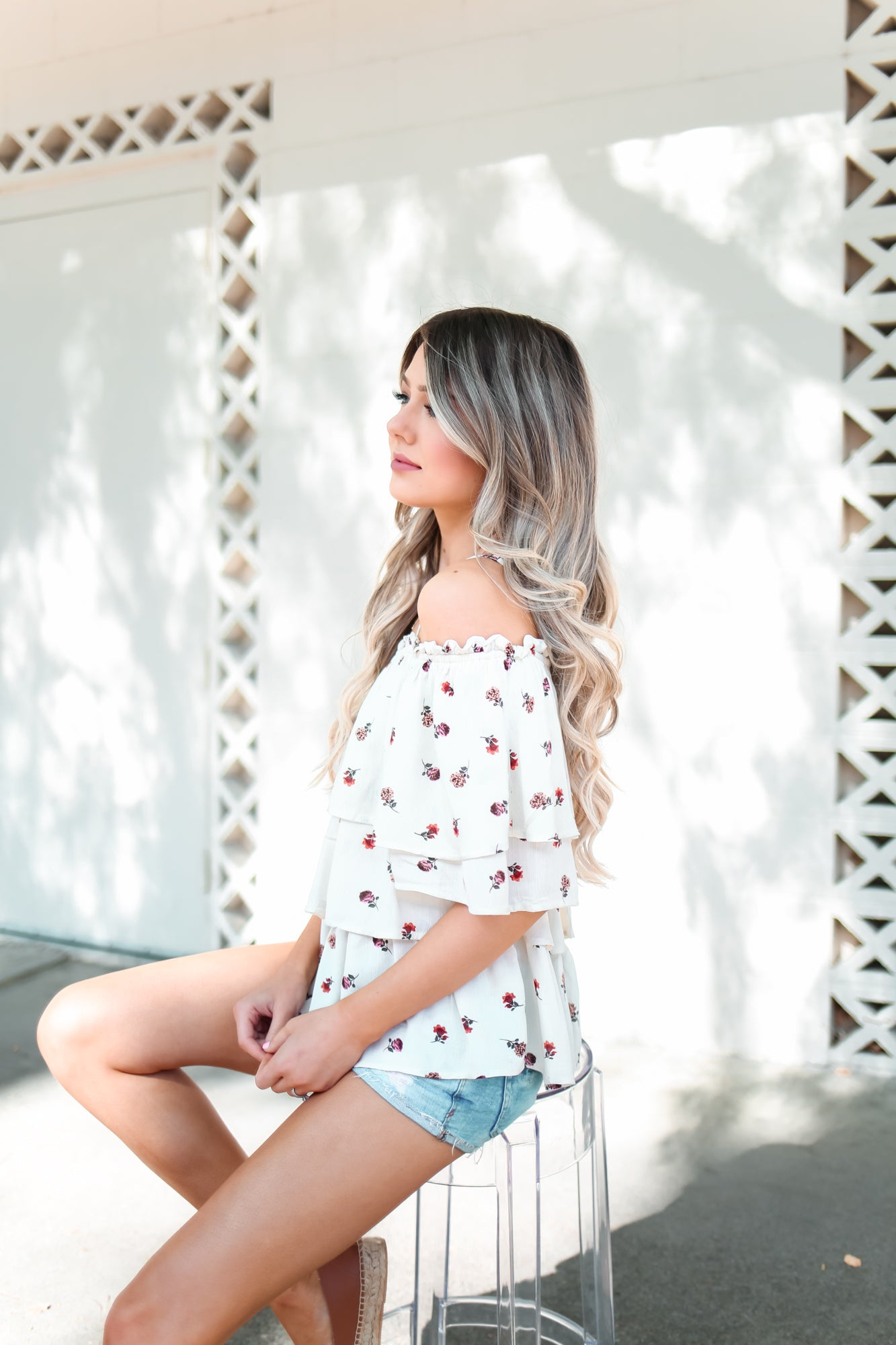 Fae Off Shoulder Floral Top