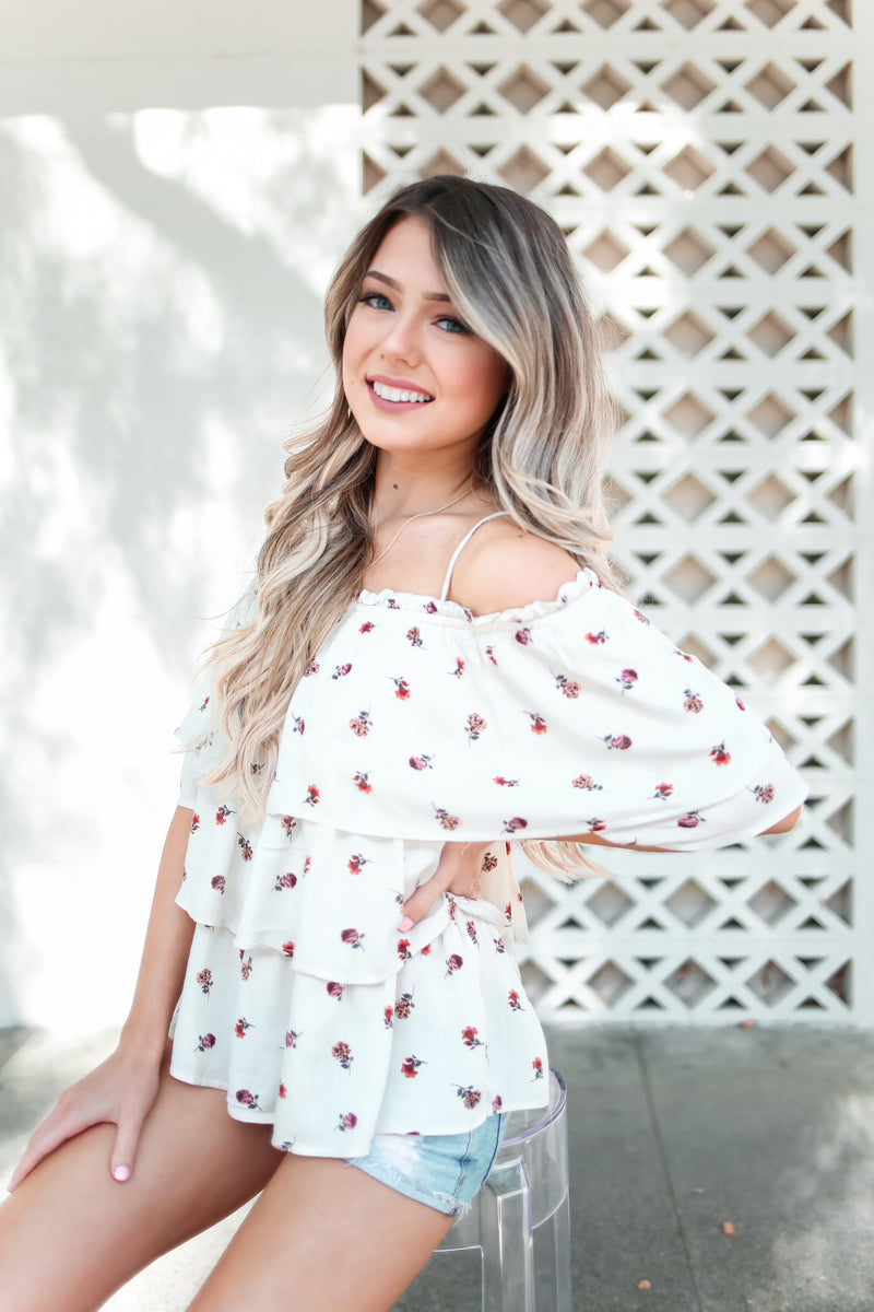 Fae Off Shoulder Floral Top - llacie