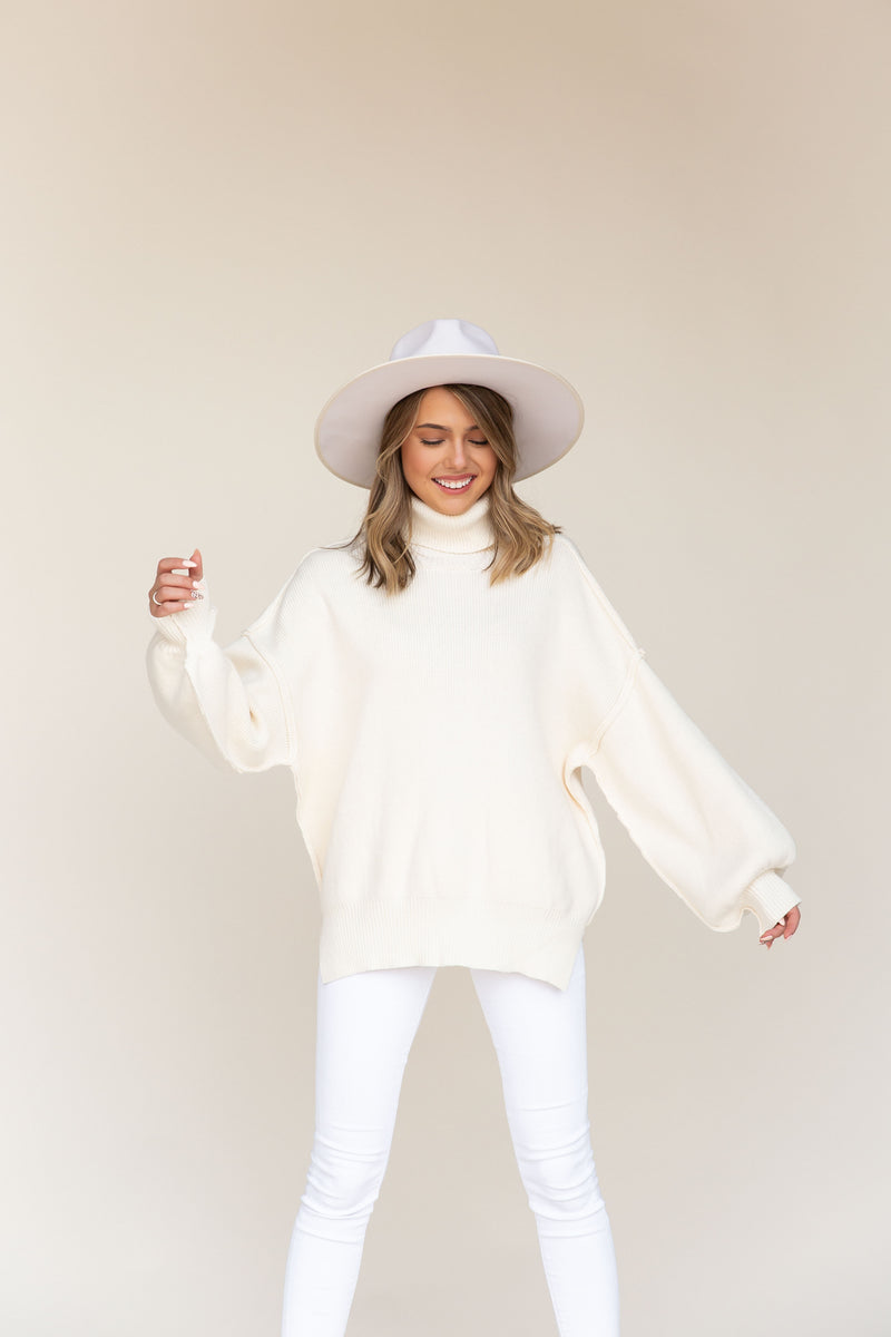 Kanee Cream Turtleneck Sweater
