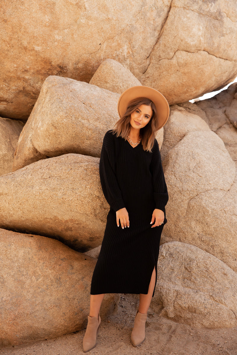 Phoenix Sweater Dress | Black