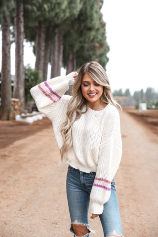 Bubble Sleeve Knit Sweater - llacie
