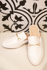Joelle White Loafers