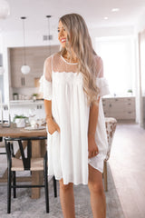 Doll Ivory Lace Shift Dress