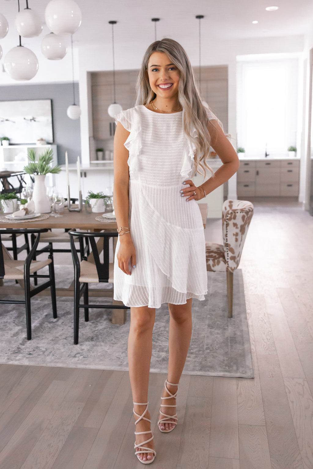 Yes To White Ruffle Dress- FINAL SALE