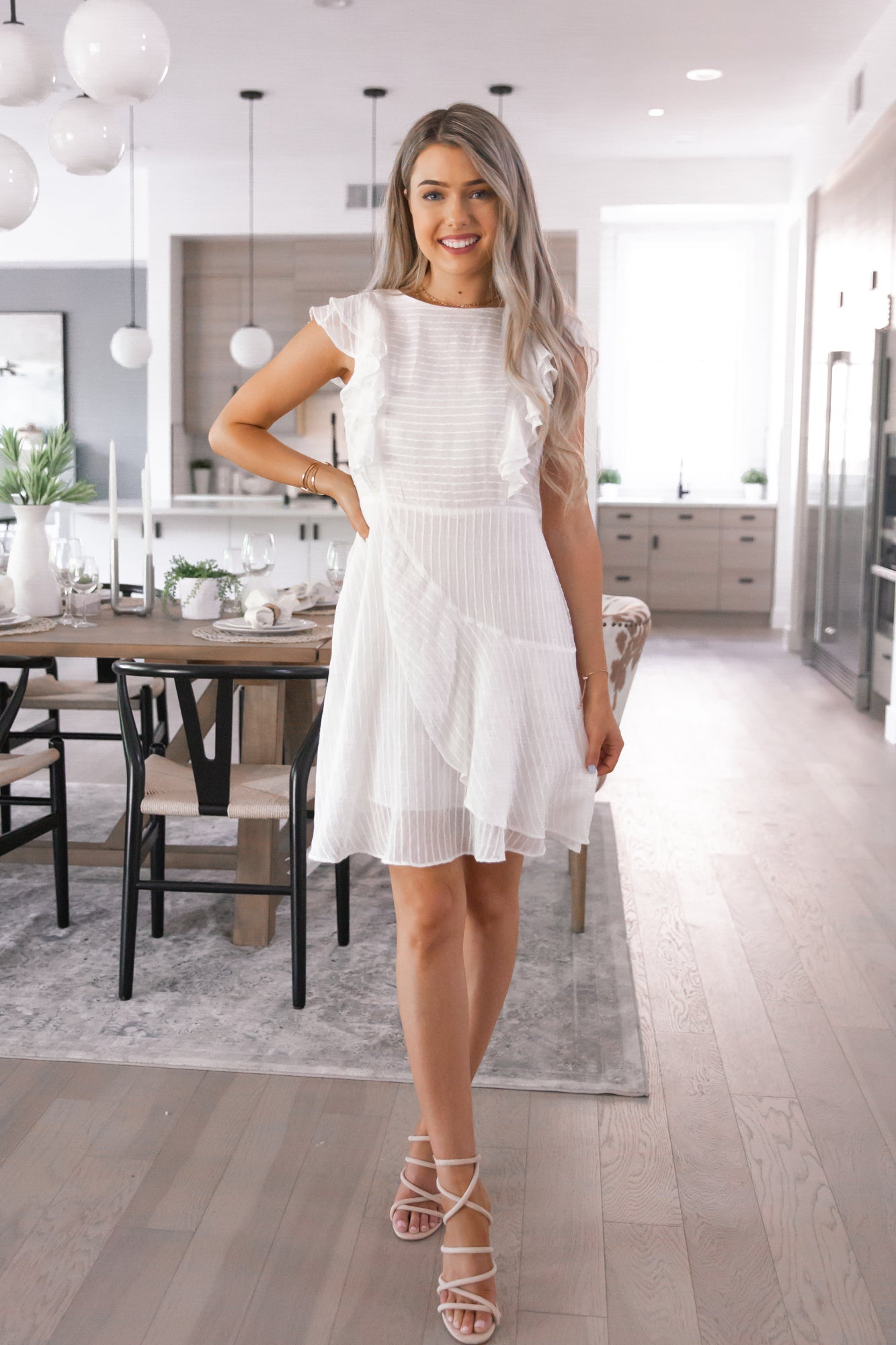 Yes To White Ruffle Dress