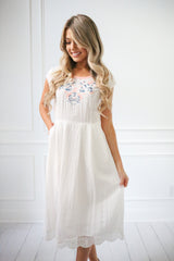 Sweetheart Embroidered Dress